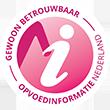 Het keurmerk van de betrouwbare opvoedinformatie van Opvoedinformatie Nederland.